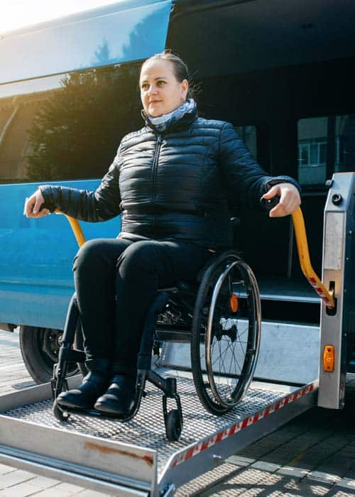medical transport wheelchair van